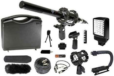 Profesional DSLR estabilizador de micrófono LED luz de vídeo Kit ...