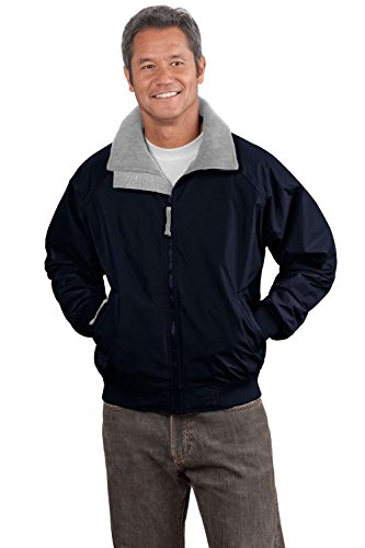 (Port Authority Men's Big Challenger Jacket - True Navy/Grey Heather - X-Large Big)