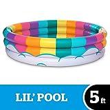 BigMouth Inc. Inflatable Kiddie Pool, Durable Plastic Baby Pool (Rainbow)