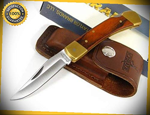 (Uncle Henry Smokey Wood Sharp Knife with Sheath LB5 perfect for outdoor camping)