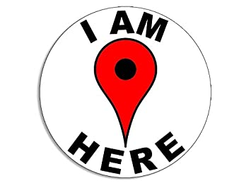 amazon american vinyl round i am here drop pin sticker decal 1D Logo image unavailable