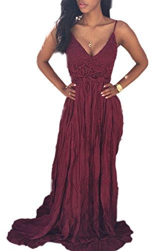 La Mujer De Maxi Halter Backless Clubwear Vestido De Fiesta Wine