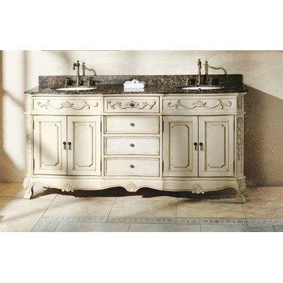James Martin Furniture 72 in. Bathroom Double Vanity in Antique White Finish 497959 from James Martin Furniture