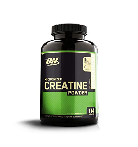 Optimum Nutrition Creatine Powder - Optimum Nutrition Micronized Creatine Monohydrate Powder, Unflavored, Keto Friendly, 114 Servings