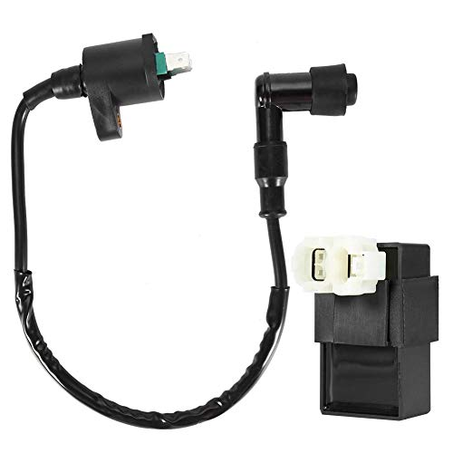 Ignition Coil Akozon 6Pin Ignition Coil Accessory Plug AC-Fired CDI Ignition Coil eliminates the Rev Limit for CRF / TRX50 / TRX125: