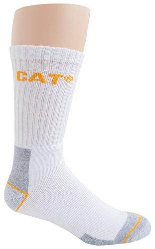 Caterpillar Men's Real Work Sock 3 Pack, White, Sock Size: 10-13/Shoe Size:9-11 from Caterpillar
