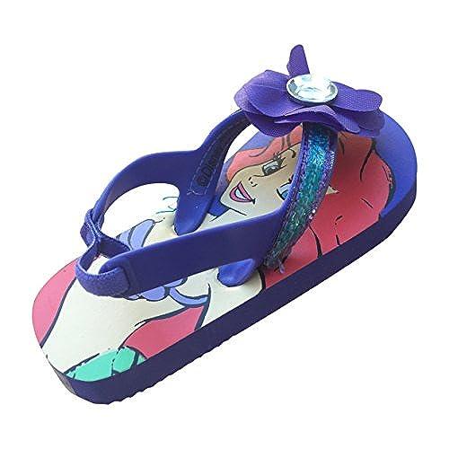 a273ec3a97b Disney Ariel The Little Mermaid Flip Flops Sandals Girls Size 7 - 8 w  Heel