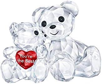 Swarovski Kris Bear – You are The Best Figurine, Crystal, Multicoloured Light 3.3 x 4.9 x 2.9 cm