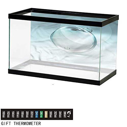 (homecoco Fish Tank Backdrop Aqua,Smooth Sphere Water Droplet,Aquarium Background,24