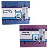 Locker Shelf EXTENDABLE Adjust to 14IN 2AST Blue/Purple, Case Pack of 12