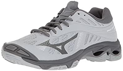 Mizuno Wave Lightning Z4 Volleyball Shoes Footwear Womens, Grey, 6 B US
