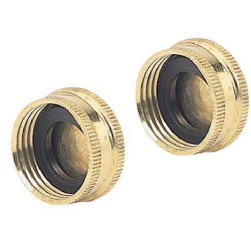 05HC2GT 2-Pack Green Thumb Brass Hose Cap