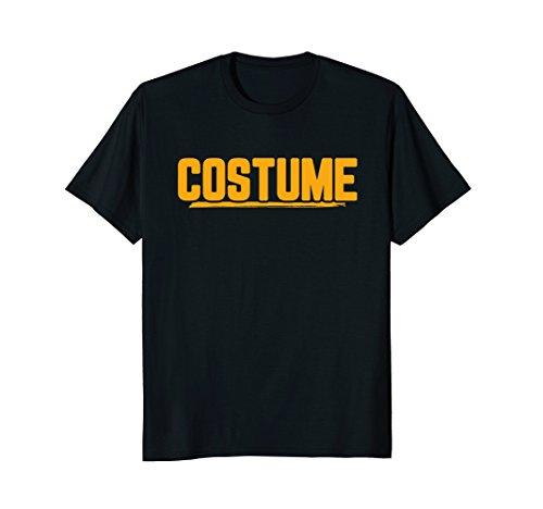 (Mens Halloween T-Shirt That Says Costume Easiest Last Min Tee Medium)