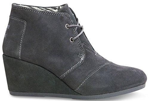 TOMS Womens Desert Wedges Boot (39-40 M EU / 9 B(M) US, Castlerock Grey)