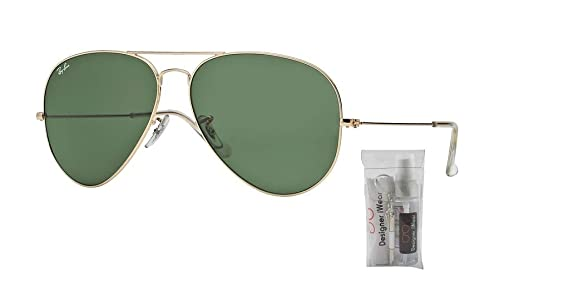 51234bad94 Amazon.com  Ray-Ban RB3026 AVIATOR LARGE METAL II L2846 62M Arista Green  Crystal Sunglasses For Men For Women  Clothing