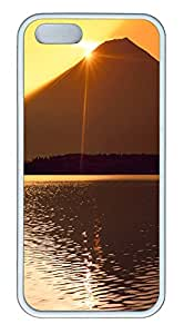 iPhone 5 5S Case Sunset 09 TPU Custom iPhone 5 5S Case Cover White