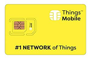 Things Mobile Prepaid SIM Card for IOT and M2M with Global Coverage Without Fixed Costs. Ideal for Home Automation, GPS Tracker, Telemetry, Alarms, Smart City, Automotive. Credit Included US$10.