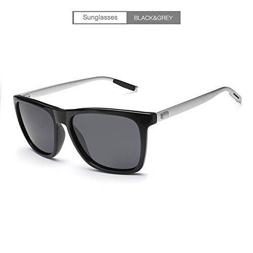 lente Gafas ULTRAVIOLETA de negra conductor libre magnesio manera anti marco de sol aluminio sol al la personalidad del aire las del gafas de negro marco la de gris negro Gafas Lente sol RFVBNM de del del de oscura marco qdfqC