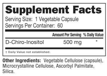 DCI 500mg (D-Chiro-Inositol) (60 Capsules) by Neurobiologix