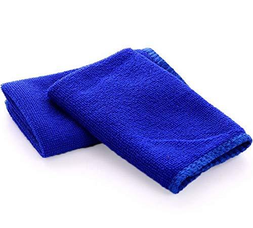 AccMart Kitchen Towels, Cotton Dish Towels Microfiber Cleaning Cloth for Cars, Microfiber Bar Towels - Blue - 12 x 12inch (10PCS)