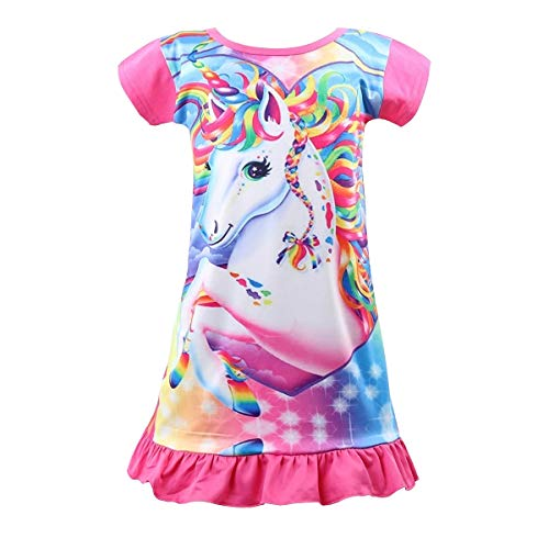 Nidoul Nightgown Unicorn Princess Sleepwear product image
