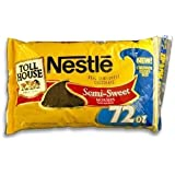 SEMI SWEET CHOCOLATE CHIPS,3 PACKS -72 OZ EACH- Nestle Chocolate Morsels (72 OZ.)