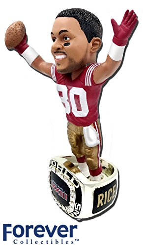 Jerry Bowl (Jerry Rice (San Francisco 49ers) 1988 Super Bowl Championship Ring Base NFL Bobblehead Exclusive #/750)