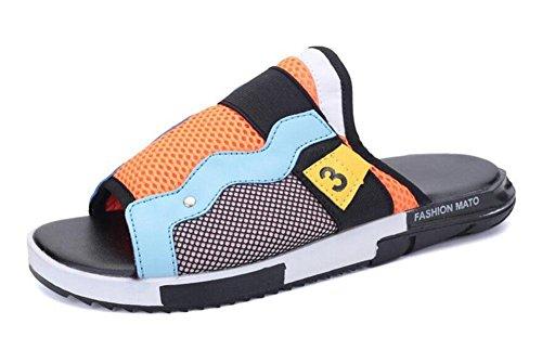 GLTER Sandalias abiertas del dedo del pie verano nuevos zapatos de la playa Zapatillas frescas personalizadas Sandalias de la manera del ocio orange