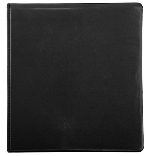 (Mead 1 Inch 3 Ring Binder, Tri-Fold, 3 Pockets, Black/Gray (72163))