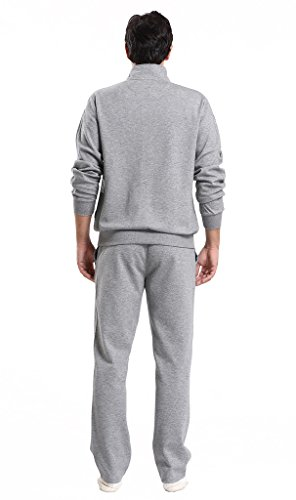 Miuk Men's Cardigan Tracksuit Full Zipper Basic Sportswear Sports suit