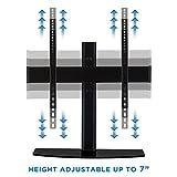 Mount-It! Universal Tabletop TV Stand Mount and AV Media Glass Shelf, TV Mount Bracket Fits 32, 37, 40, 47, 50, 55 Inch TVs, Height Adjustable, VESA 600x400, Black (MI-843)