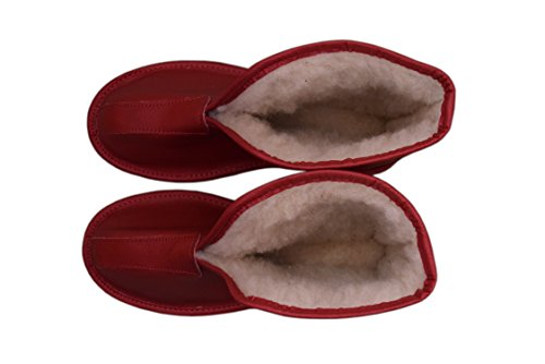 braun Boots Stiefeletten Größe Leather braun Womens Mens Slippers Slipper Stiefel Damen leather Unisex Natural braun Natleat Red 38 Sheepskin amp; 78OqUw