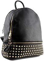 bb4de57adb Zaino Donna con Borchie in Pelle pu a sacco nero, zainetto borchiato per  ragazza fashion. Caricamento immagini in corso.