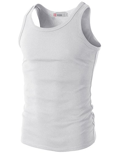 H2H Mens Active Slim Fit Basic Lightweight Athletic Tank Top With Solid Colors