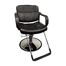 20″ Wide Hydraulic Barber Chair Styling Salon Beauty Equipment – DS-5001W-NEWBlack