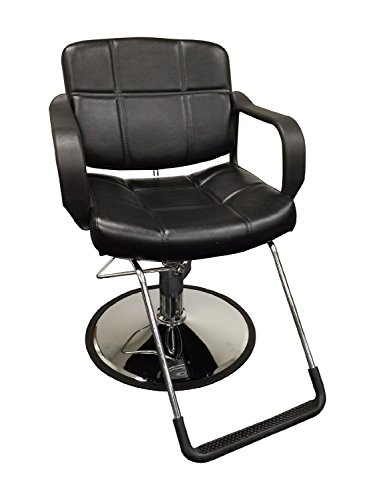 "20"" Wide Hydraulic Barber Chair Styling Salon Beauty Equipment - DS-5001W-NEWBlack"
