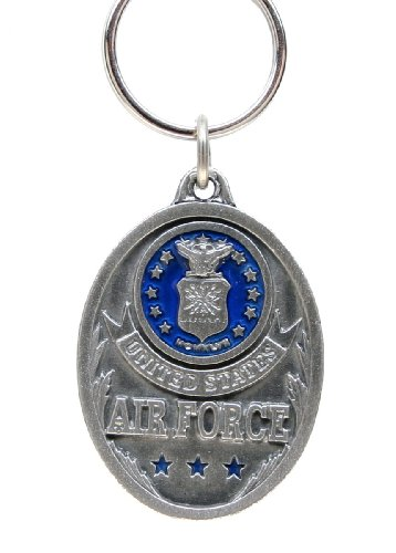 Air Force Falcons Pewter Key Ring - U.S. Air Force - NCAA College Athletics Fan Shop Sports Team Merchandise - Air Force Falcons Keychain