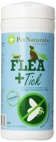 FLEA + TICK Repellent Wipes, 45 Count