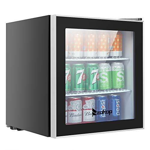- Zokop 60 Can Beverage Refrigerator, Mini Cooler with Removable Shelves, Temperature Adjustable Fridge for Soda, Beer, Wine and Cold Water, Liquid Drink, Summer Machine for Kitchen, Dorm, Office or Bar