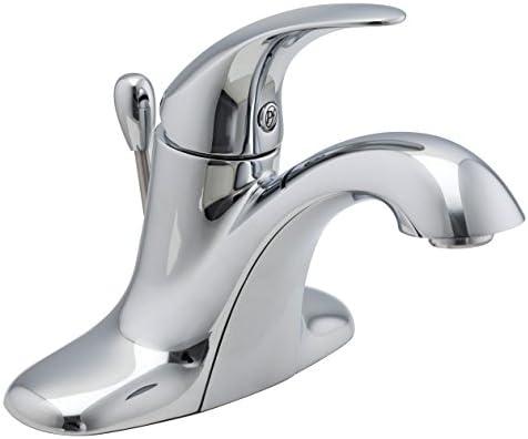 Pfister LG42SR0C Serrano Single Control 4 Inch Centerset Bathroom Faucet in Polished Chrome, Water-Efficient Model
