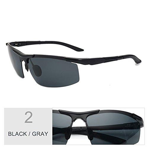 Anteojos Trajes Guía Reborde Luz De Hd Black Al Rayos De Filtrar Gray Polarizadas Los De Hombre Negro Gris Semi De Mg Gafas Gafas Gafas Sol TIANLIANG04 0xvdn7wq0