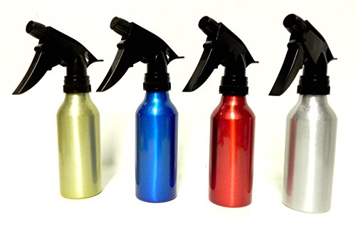 4 Aluminum Spray Bottles Atomizer Mist Perfume Hair Care Salon Home Garden