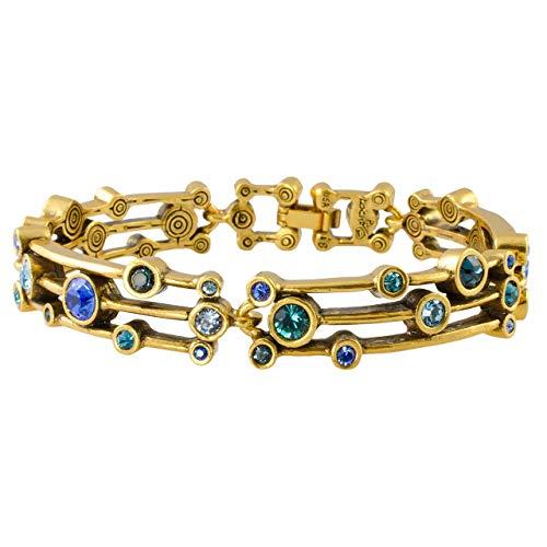 Patricia Locke Singin' in The Rain Bracelet in Gold, True Blue Color Story