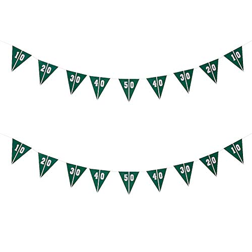 Football Party Decorations - Touchdown Football Field Pennant Banner (Pack of 2)