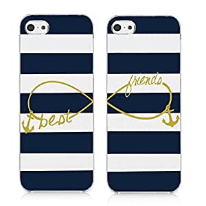 Generic Infinity Best Friends Style with Anchor Matching Couple Cell Phone Cases for iPhone 6 Plus (5.5 Inch Screen)