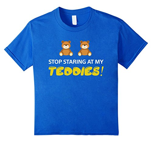 [Kids Stop Staring At My Teddies Halloween Costume T-Shirt 4 Royal Blue] (Mom Dad And Child Halloween Costumes)