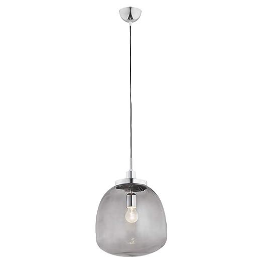 ARGON - Lámpara de techo (cristal, 1 bombilla), color negro ...