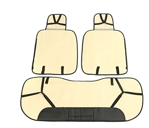 MD Group Car Seat Cover 5 Seat PU Leather Front & Rear Seat Set Full Surround Needlework 10pcs by MD Group (Image #5)