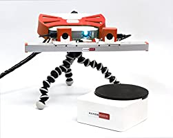 RangeVision Smart 3D Scanner with Automatic Turntable TS12, Based on Structure-Light Technology, Ideal Solution for Schools, FabLabs and Basic Reverse Engineering Applications