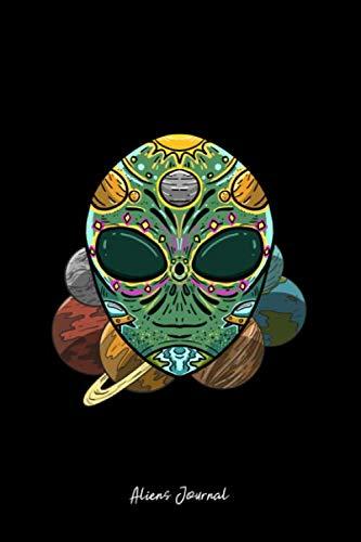 Sugar Skull Recipe (Aliens Journal: Lined Journal - Alien Sugar Skull Galaxy Retro ET Dia De Los Muertos Gift - Black Ruled Diary, Prayer, Gratitude, Writing, Travel, Notebook For Men Women - 6x9)